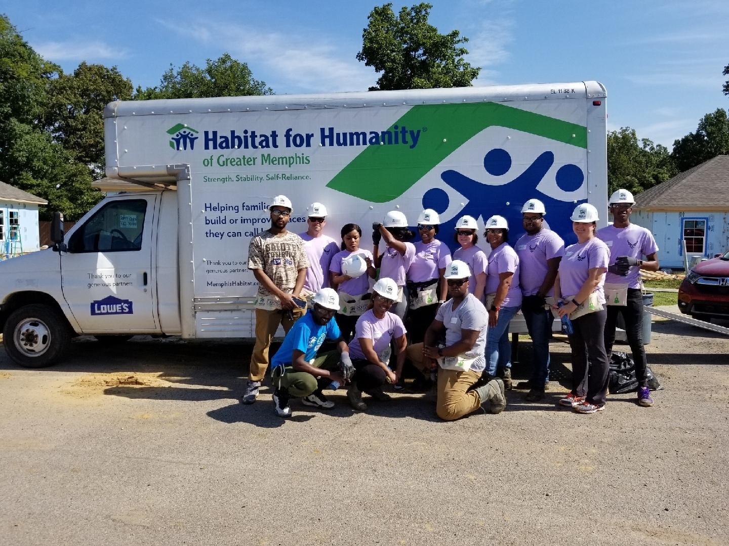 164th AW Volunteer for Local Habitat for Humanity
